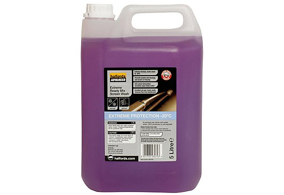 Halfords Advanced Extreme Ready Mix Screenwash 5L