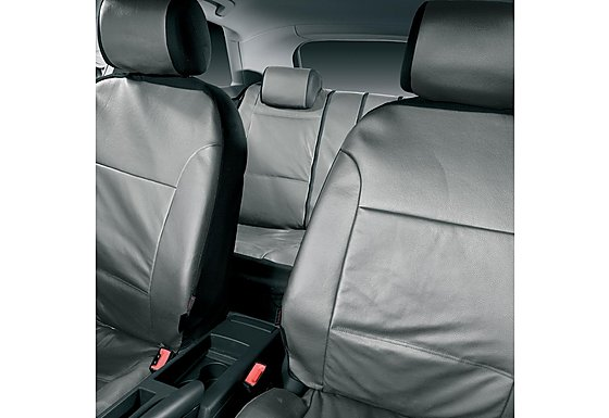 Halfords Advanced Leather Look Car Seat Covers - Grey