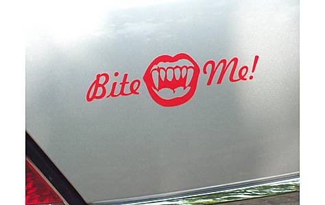 image of Storm Graphics Bite Me Car Sticker