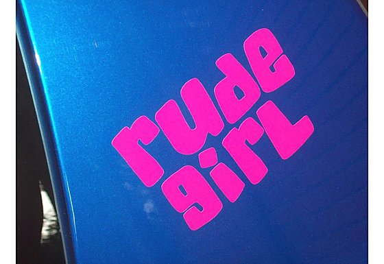 Storm Graphics Rude Girl Car Sticker