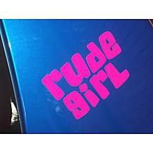 image of Storm Graphics Rude Girl Car Sticker