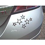 image of Storm Graphics Black Stars Car Sticker
