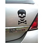 image of Storm Graphics Skull Car Sticker