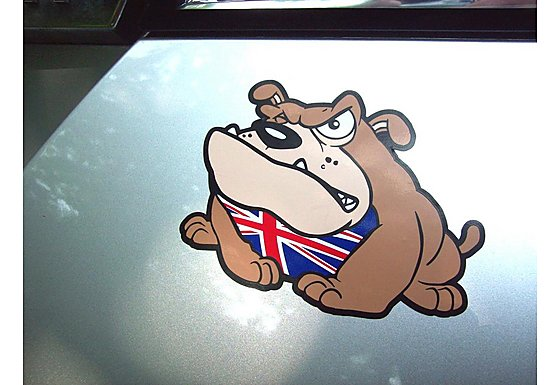 Storm Graphics Bulldog Car Sticker