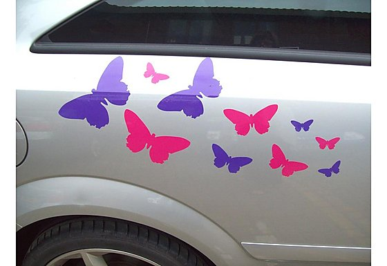 Storm Graphics 'Butterflies' Car Stickers