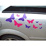 image of Storm Graphics Butterflies Car Stickers