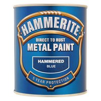 Hammerite Direct to Rust Metal Paint Hammered Blue 750ml