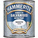 Hammerite Direct to Galvanised Metal Paint Silver 750ml