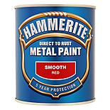 Hammerite Direct to Rust Metal Paint Smooth Red 750ml