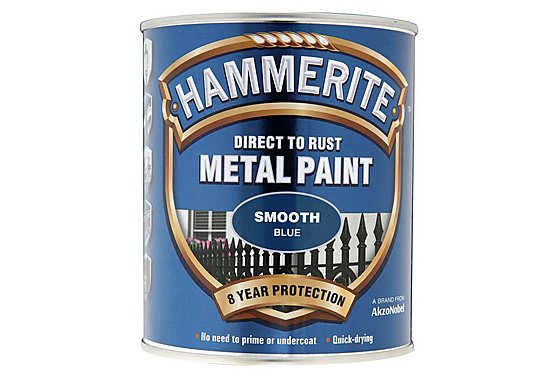 Hammerite Direct to Rust Metal Paint Smooth Blue 750ml