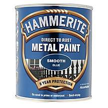 image of Hammerite Direct to Rust Metal Paint Smooth Blue 750ml
