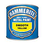 Hammerite Direct to Rust Metal Paint Smooth Yellow 750ml