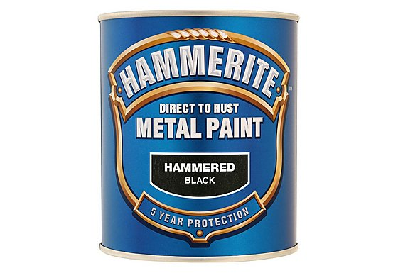 Hammerite Direct to Rust Metal Paint Hammered Black 750ml