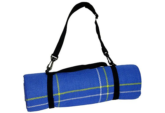 Halfords XL Waterproof Tartan Rug