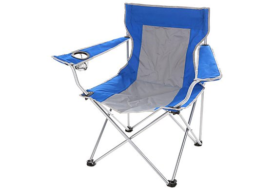 Halfords Folding Arm Chair Blue