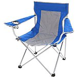 image of Halfords Folding Arm Chair Blue