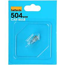 image of Halfords 504 W3W Car Bulb x 1