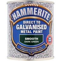 Hammerite Direct to Galvanised Metal Paint Dark Green 750ml