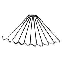 "image of Halfords 9"" Roundwire Tent Pegs 10 Pack New"