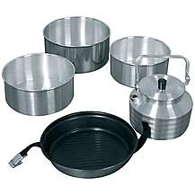 image of Halfords Complete Cookset & Kettle New