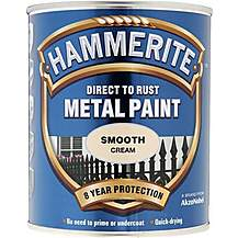 image of Hammerite Direct to Rust Metal Paint Smooth Cream 750ml