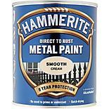 Hammerite Direct to Rust Metal Paint Smooth Cream 750ml