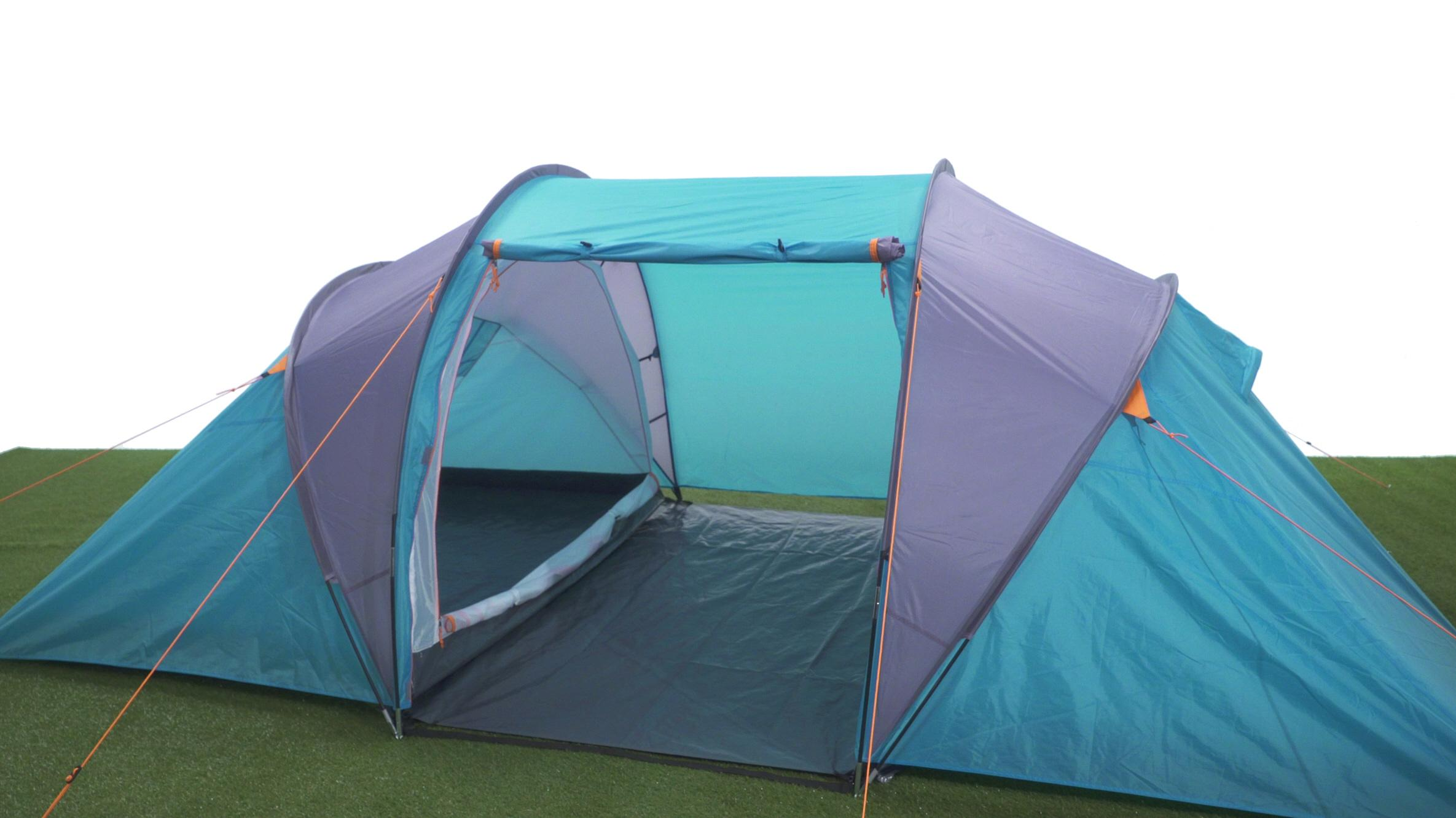 Halfords 4 Man Vis A Vis Tent - Light Blue  sc 1 st  Halfords : cheap 4 man tent - memphite.com