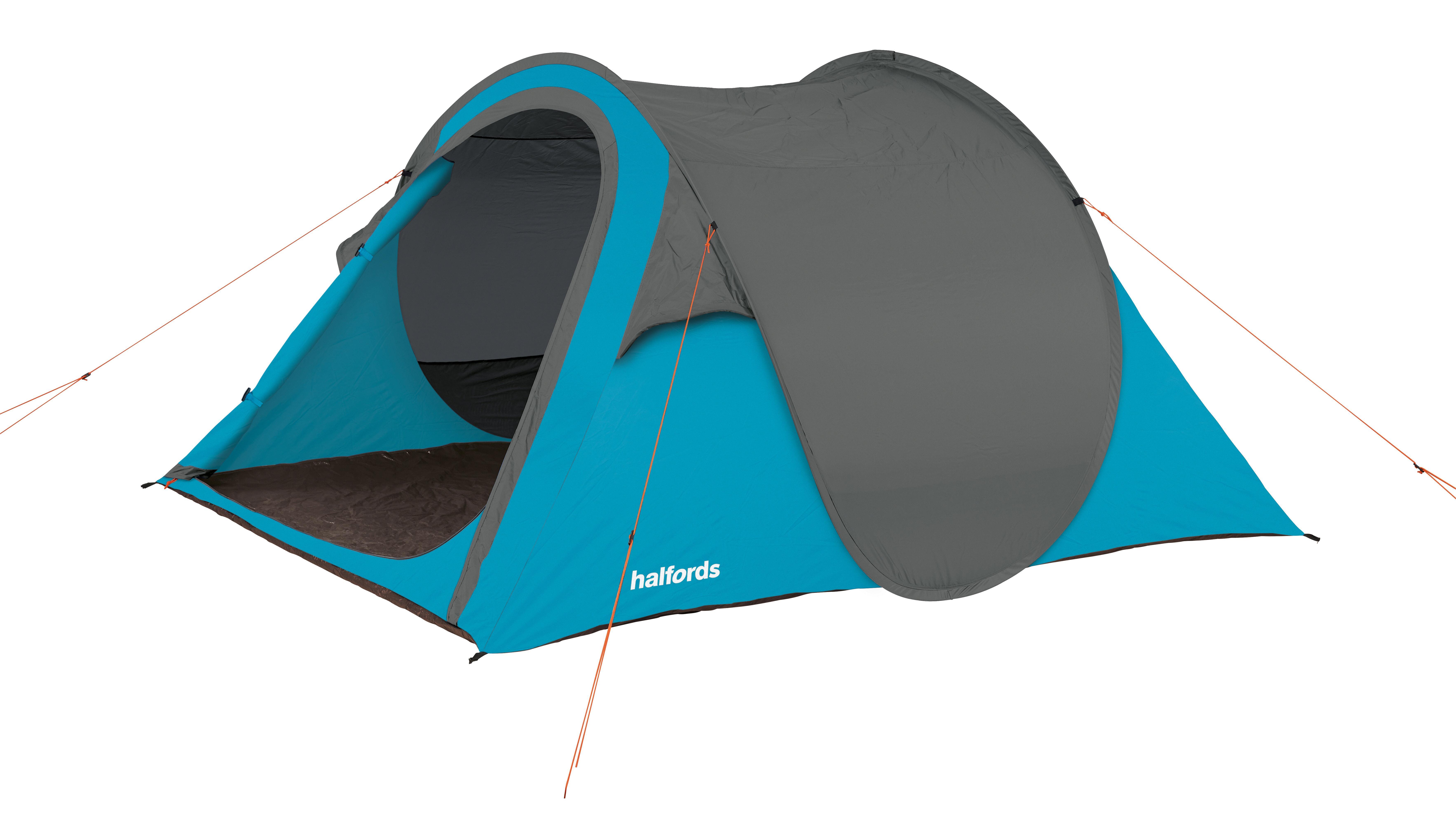 halfords 4 man pop up tent