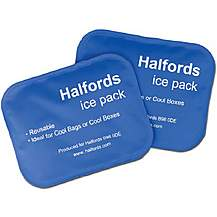 image of Halfords Medium Ice Pack x2 New