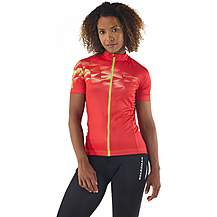 image of Boardman Womens Short Sleeve Cycling Jersey - Geo