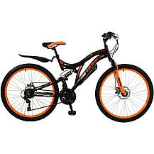 "image of Boss Black Ice Mens 26"" Steel FS Mountain Bike"