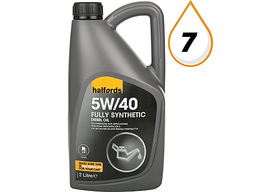 Halfords 5W40 Fully Synthetic Diesel Engine Oil 2L