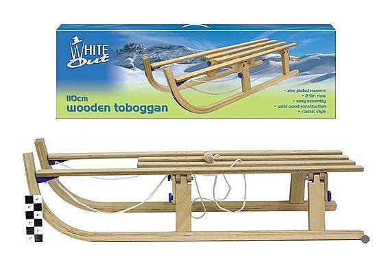 Folding Wooden Sledge Toboggan