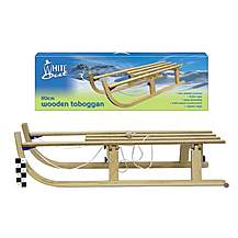 image of Folding Wooden Sledge Toboggan