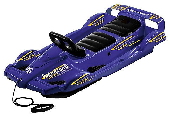 Snow Double Racer Sledge - Blue