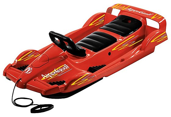 Snow Double Racer Sledge - Red