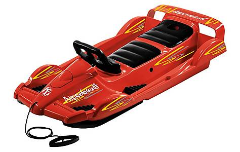 image of Snow Double Racer Sledge - Red
