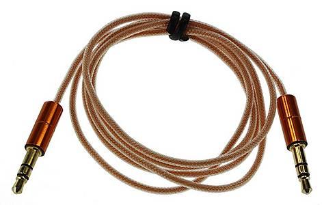 image of Kitsound Orange - 3.5MM - 3.5MM Aux-in Cable - KSAUX