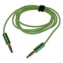 image of Kitsound Green - 3.5MM - 3.5MM Aux-in Cable - KSAUX