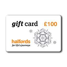 image of Halfords Christmas 100 Pound Gift Card