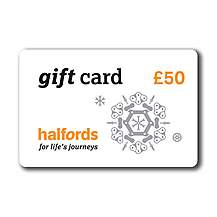 image of Halfords Christmas 50 Pound Gift Card