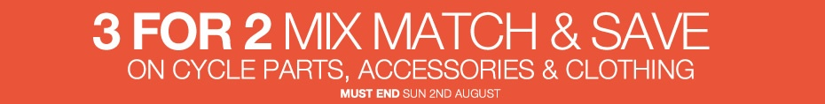 3 for 2 cycle accessories - ends 2nd August!