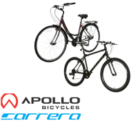 0% off selected Carrera and Apollo bikes