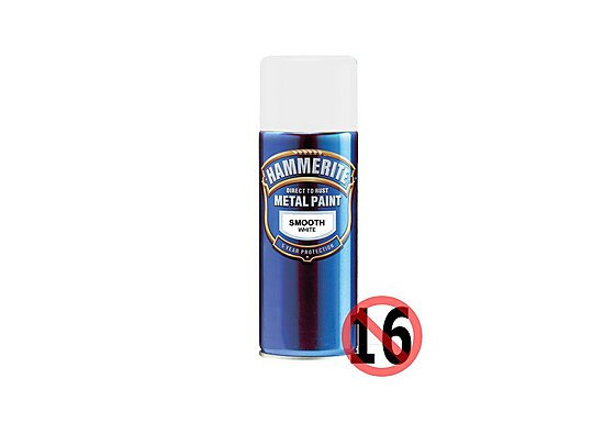 Hammerite Direct to Rust Metal Paint Smooth White 400ml