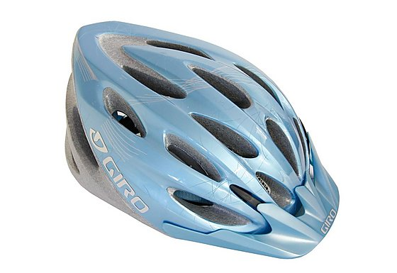 Giro Skyla Pale Blue Flowers Bike Helmet (50-57cm)