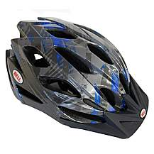image of Bell Slant Bike Helmet - Black/Blue (54-61cm)