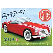image of MG MGA Roadster Metal Wall Sign