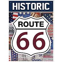 image of Route 66 Americana Metal Wall Sign