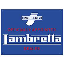 image of Lambretta Dealer Metal Wall Sign