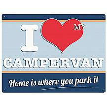 image of I Love My Campervan Metal Wall Sign